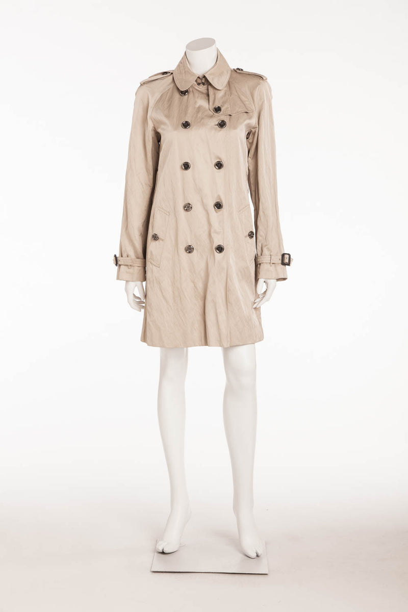 Burberry - Beige Button Up Coat - US 8