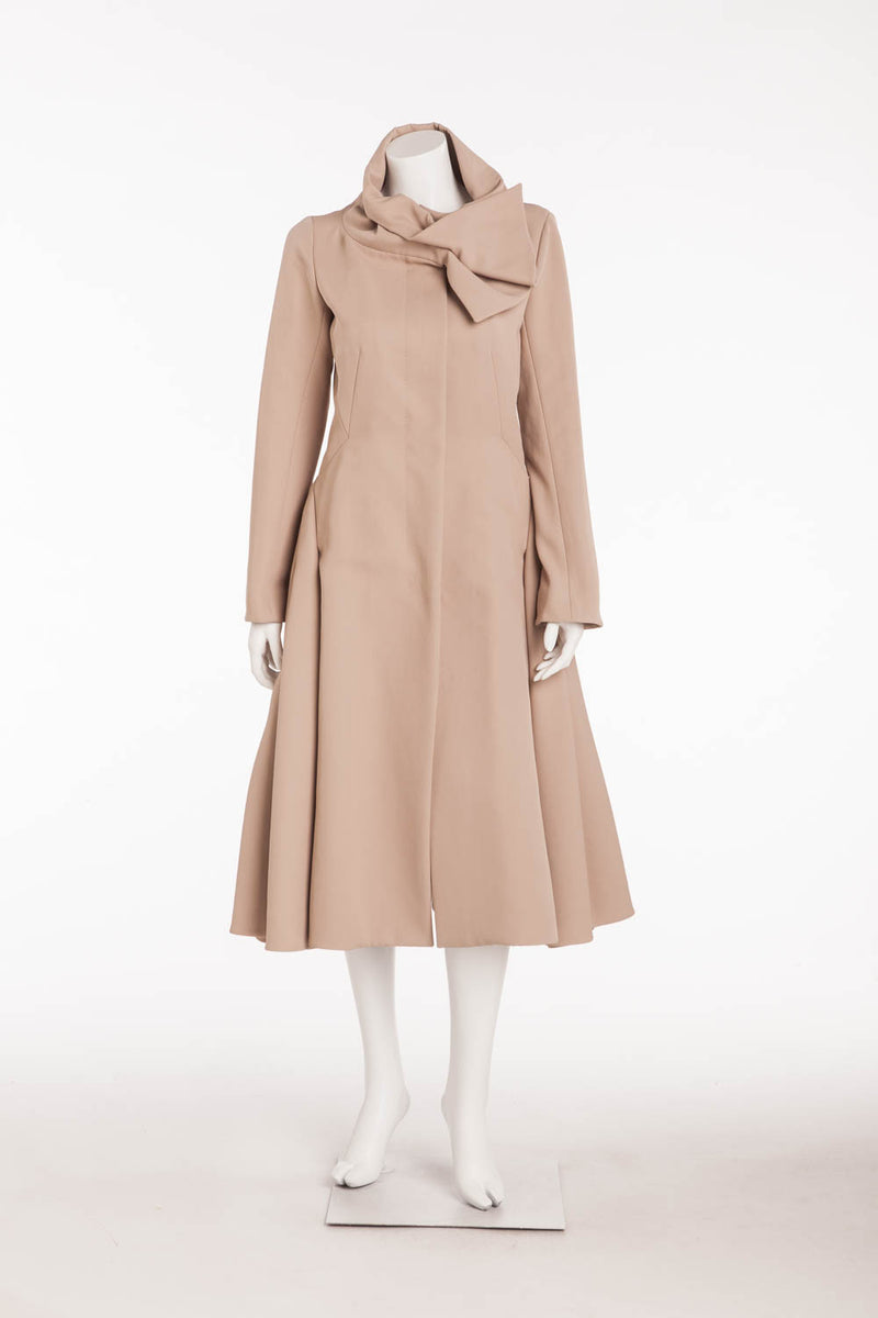 Louis Vuitton - As Seen on Runway Fall 2008 Collection - Long Sleeve Taupe Trench Coat Zip Up - FR 38