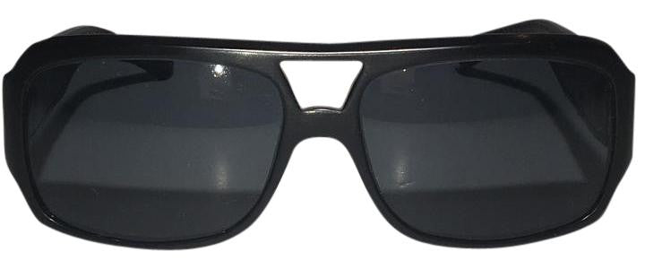 Perrin Paris - Black Leather Trim Sunglasses
