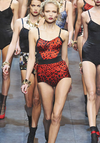 Dolce & Gabbana - Red Leopard Print Bodysuit with Side Floral Pattern - IT 42