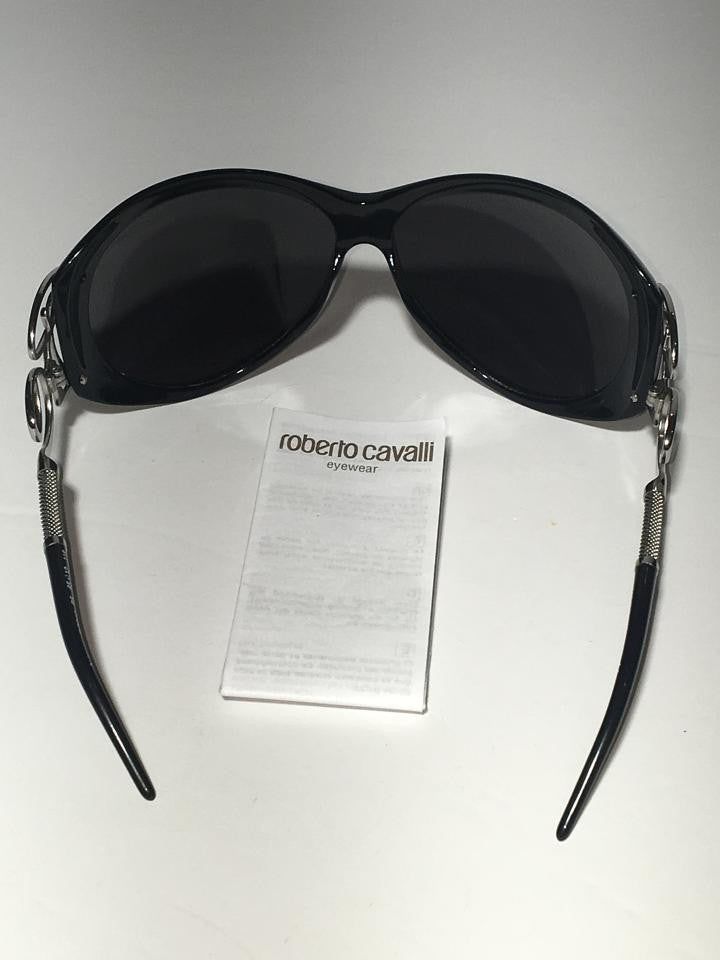 ba4ba89ee0c6 Roberto Cavalli - Black and Silver Sunglasses - One Size – LUXHAVE