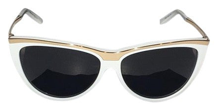 Saint Laurent - White and Gold Sunglasses