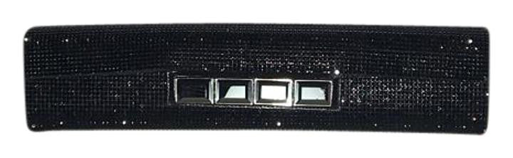 Daniel Swarovski - Long Black Rhinestone Clutch - One Size