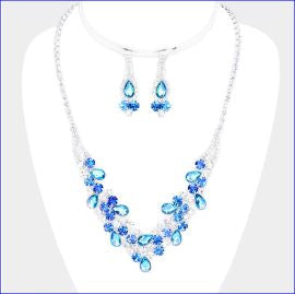 Rhinestone Necklace Set | NSR0089