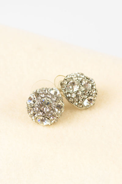 Mosaic Crystal Dome Earrings