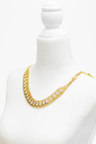 Large Gold Necklace for Backless dRess