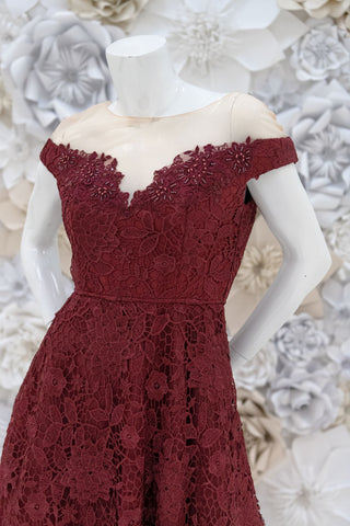 Carlie High-Low Lace Dress