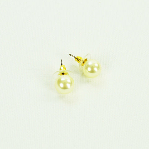 Ivory Pearl Stud Earrings