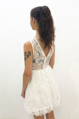 Fit and Flare White Dress