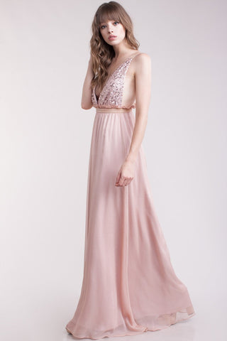 Chiffon Evening Dress Floor
