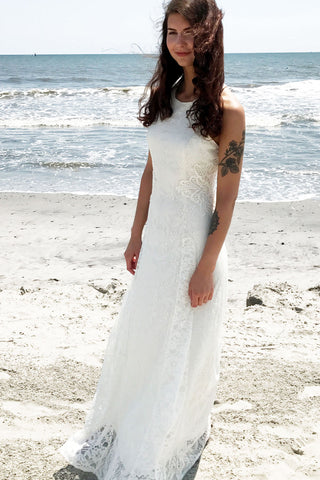 White Lotus Lace Gown