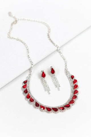 Rhinestone Necklace Set | NSR0054