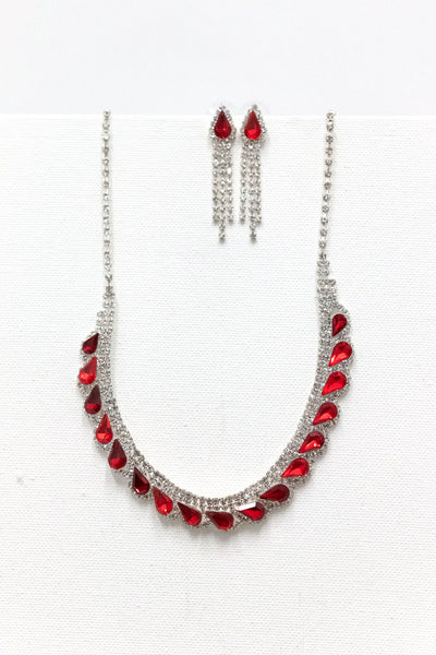 Riverflow Rhinestone Necklace Set
