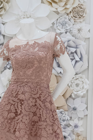 Belinda High-Low Lace Dress