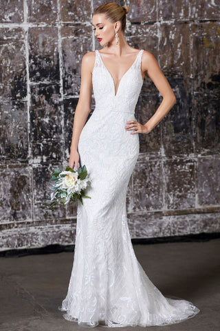 Alexis Beaded Bridal Gown in White