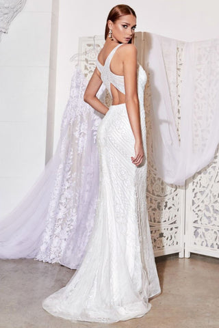 Zelda Beaded Bridal Gown in White