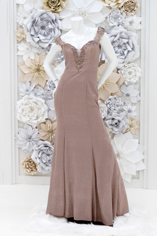 Julien Glitter Evening Dress