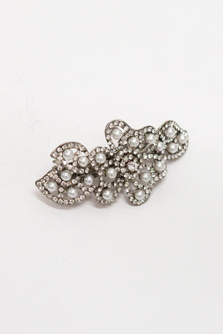 Pearl Flower Hair Barrette