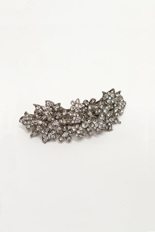 Flower Cluster Crystal Hair Barrette