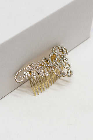 Butterfly Garden Crystal Hair Comb