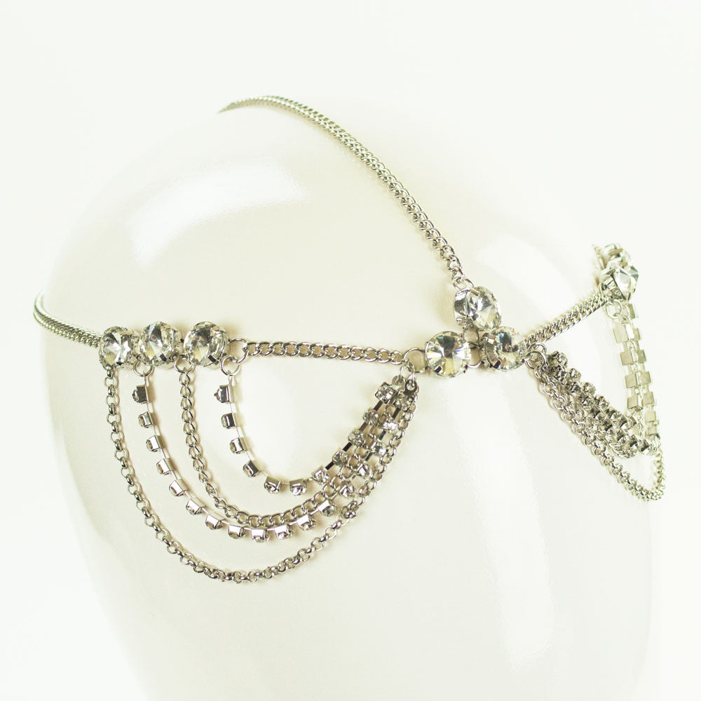 Fancy Crystal Draping Head Chain