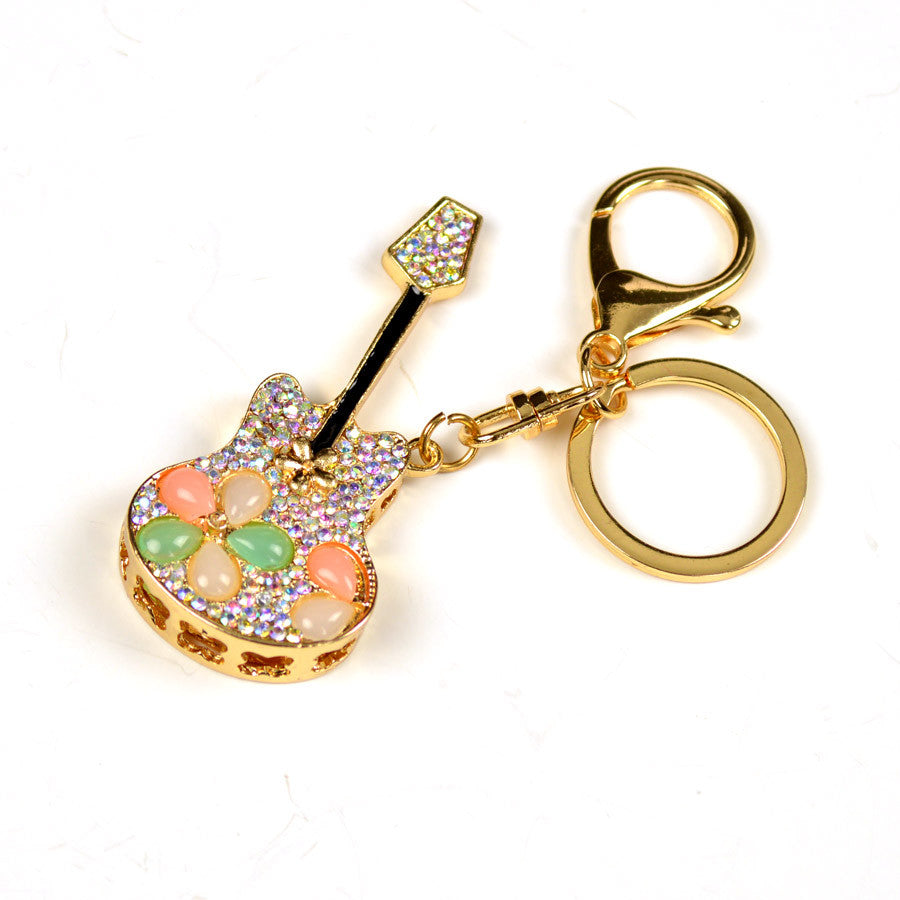 Crystal Guitar Key Chain
