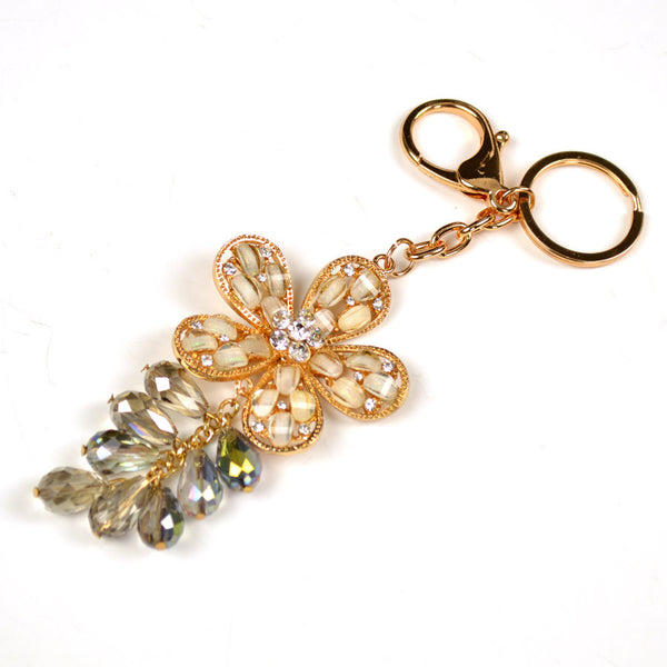 Crystal Flower Key Chain