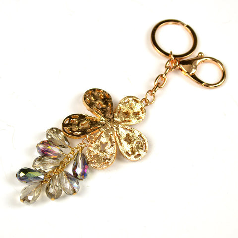 Crystal Flower Bag Charm