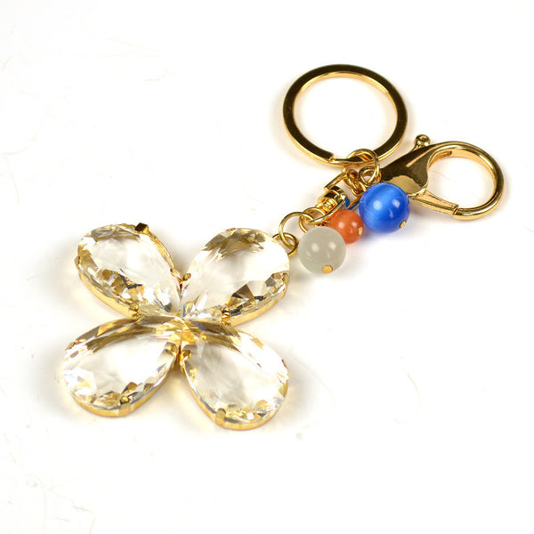 Abstract Flower Key Chain