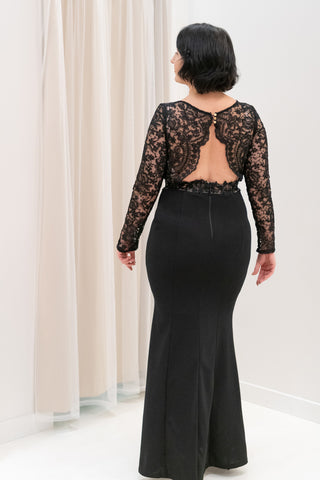 Elegant-Long-Sleeve-Lace-Bodice-Evening-Gown-in-Black