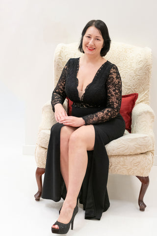 Wedding-Guest-Long-Black-Dress-with-Slit