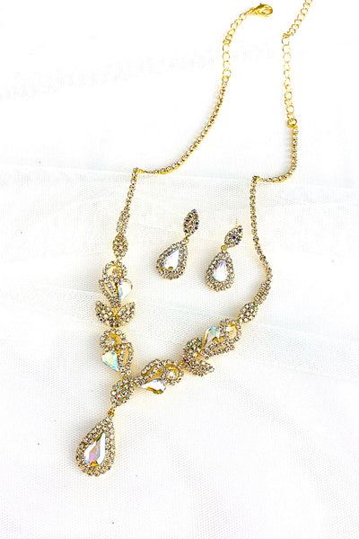 Rhinestone Necklace Set | NSR0034