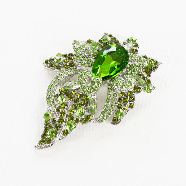 Wild Flower Crystal Brooch