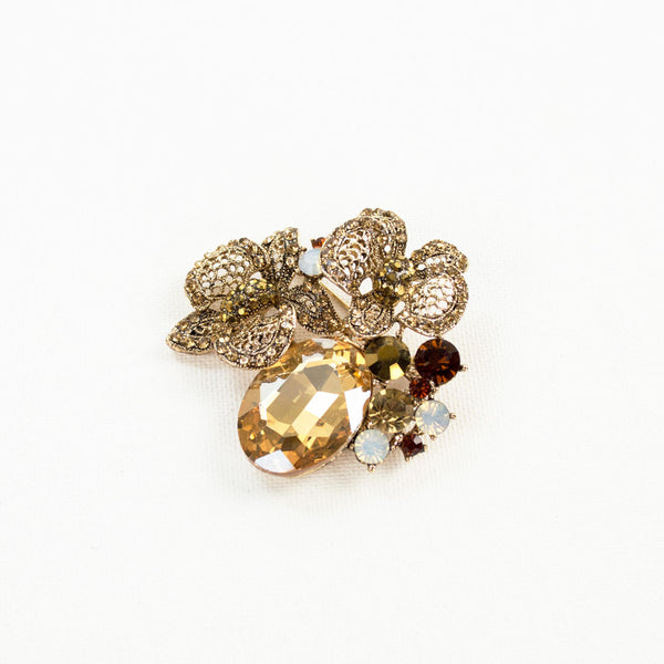Butterfly Morning Crystal Brooch