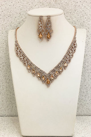 Rose-Gold-Crystal-Necklace-Set-for-Prom