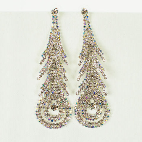 rhinestone champagne earrings drop color gem full