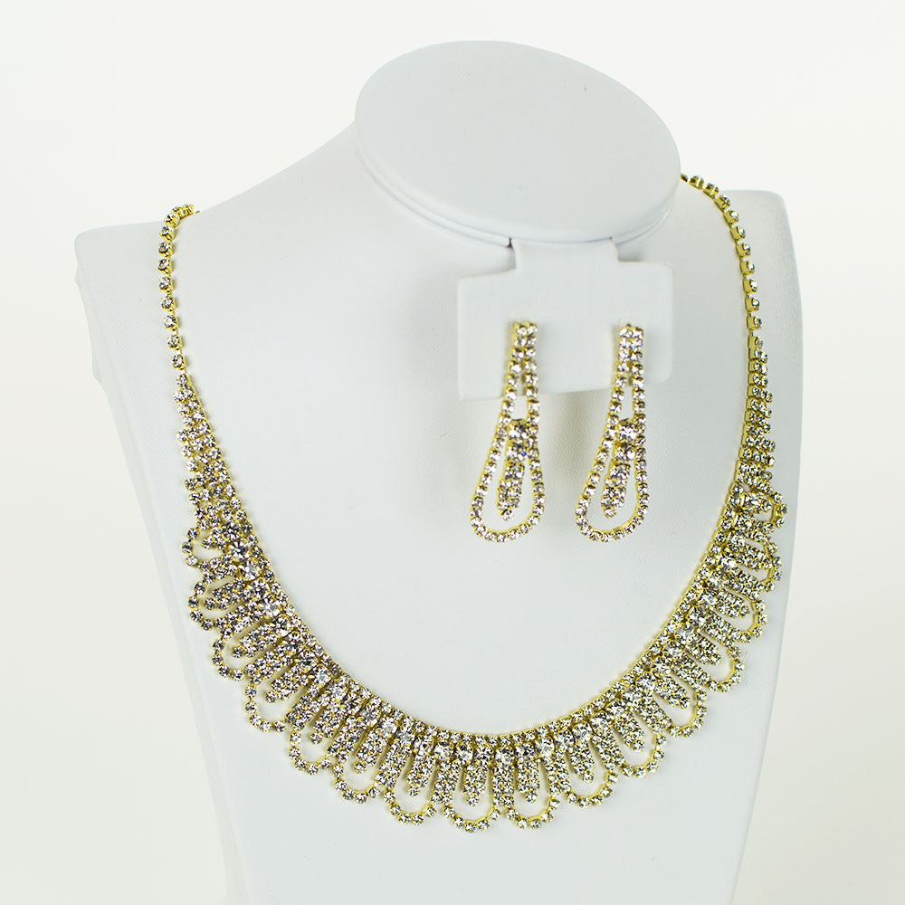 Bliss Rhinestone Necklace Set