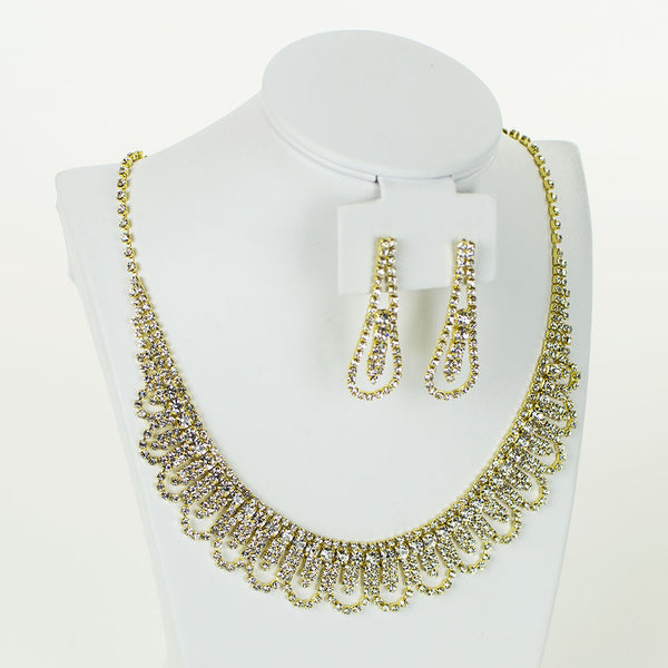 Rhinestone Necklace Set | NSR0049