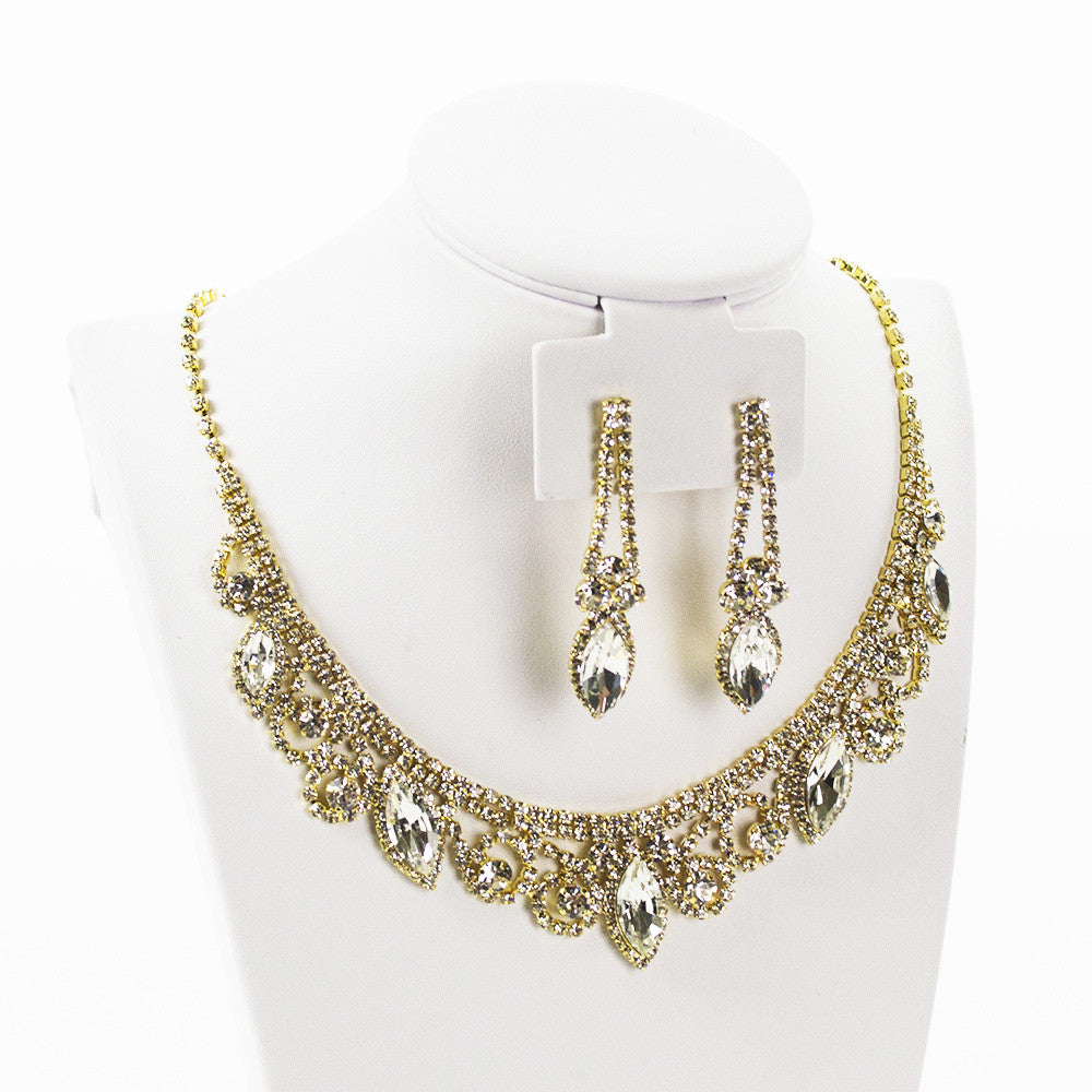 Vintage Dazzle Necklace Set