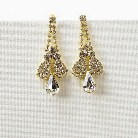 Matching Earrings for Rhinestone Necklace Set
