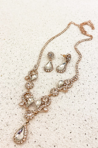 Rose-Gold-Crystal-Bridal-Necklace-Set