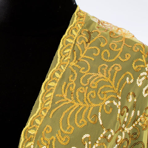 Yellow Gold Dressy Sequin Shawl