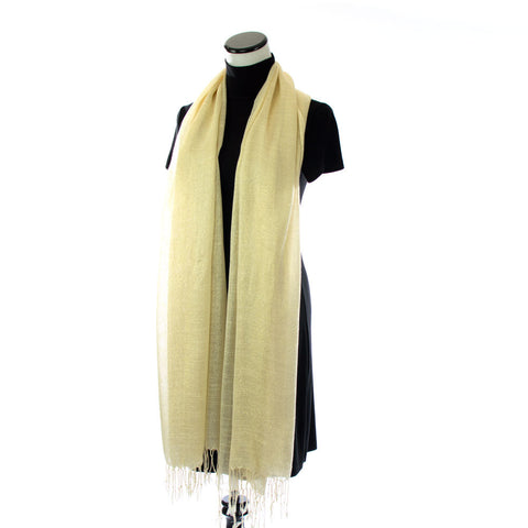 Ivory Scarf with Gold Shimmer