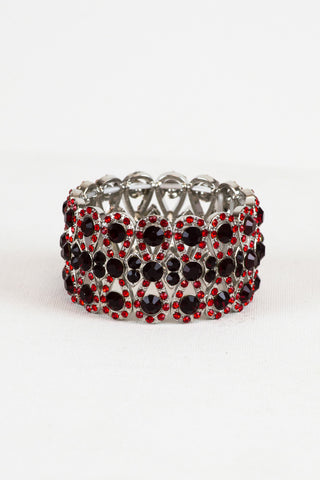 Red Crystal Fashion Bracelet for Pageant