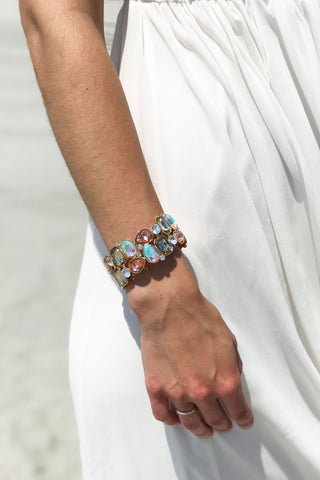 Crystal Mosaic Statement Bracelet