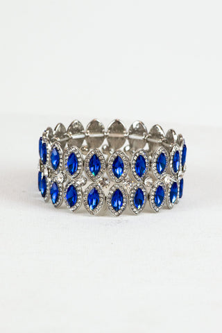 Royal Blue Statement Bracelet for Prom