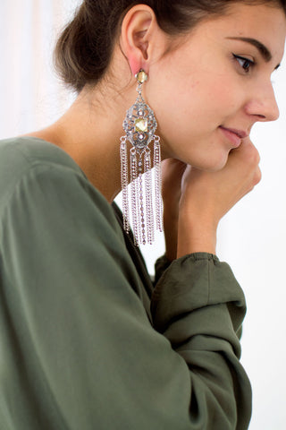 Boho Filigree Chain Earrings