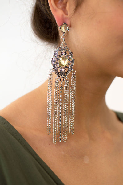 Bohemian Chain Extra Long Earrings