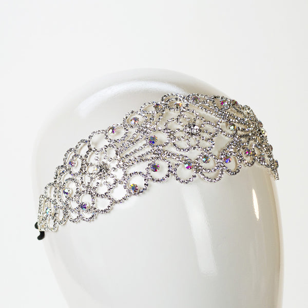 Crystal Weave Flower Headband