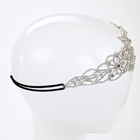 Flower Rhinestone Stretch Headband